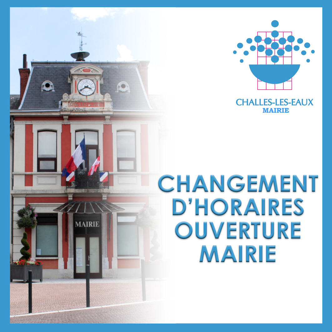 Horaires mairie Challes