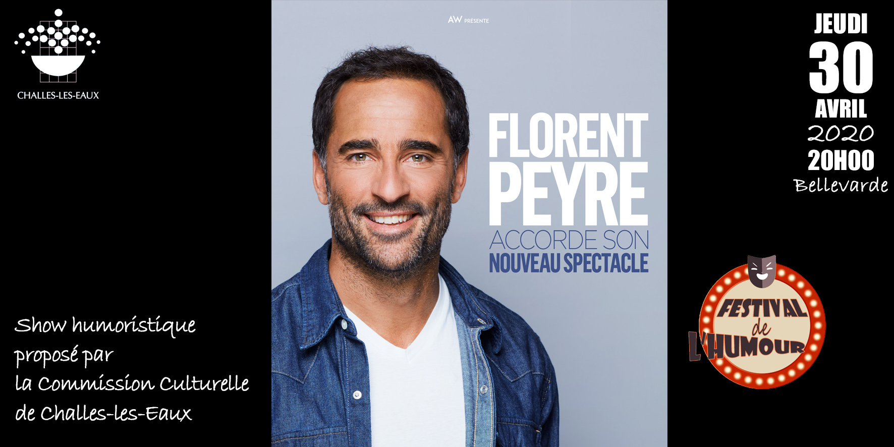 Printemps de l'humour : Florent Peyre accorde son nouveau spectacle