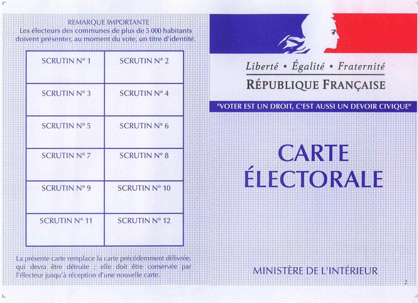 carte electoral